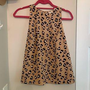 Leopard Print high neck shell top